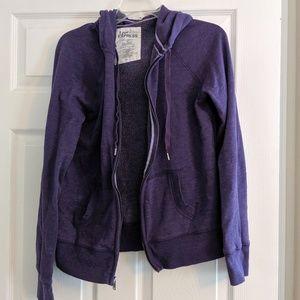 Express purple zip hoodie